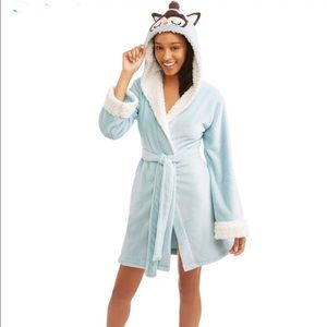 Body Candy Women's Luxe Critter Robe Owl Large
